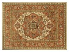 Woven Entirely by Hand Area Rug 8x11 Wool Ivory Original Handmade Rug