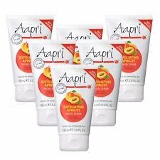 6 x Aapri Exfoliating Apricot Face Facial Scrub Cream 150ml - Improved Formula