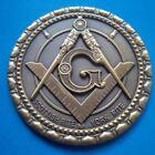 Masonic Metal Antique Auto Cut Out Car Emblem Scottish Rite/ york Rite Freemason