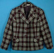 Plaid Blazer Vintage VTG England Scottish Wool Heather Mills Selkirk