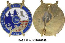 154° Régiment Infanterie de Forteresse, épingle en S soudée,(Bacqueville)(C65)