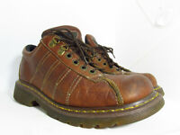 Dr. Martens AirWair 9764 Mens Brown Grizzly Leather Oxford Casual Shoes Size 10