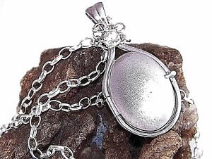 Hand made 925 Sterling Silver 4 mm 0.39ct Natural Zircon Locket H2O Pendant