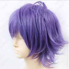 212 Hakkenden Touhou Hakken Ibun Inutuska Shino Short Purple Cosplay Wig