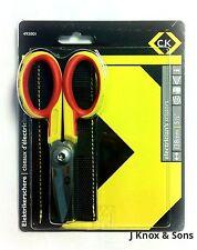 "CK Electricians Stainless Steel Scissors 140mm/5 1/2""  492001 Free Belt Pouch"
