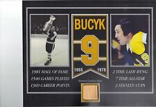 JOHNNY BUCYK BOSTON BRUINS BOSTON GARDEN SEAT 8 X 10 COA