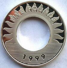 Guernsey 1999 Millennium 5 Pounds Silver Coin,Proof