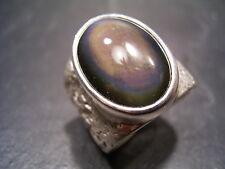 Reif-Design-obsidiana ring-por propia oro herreros - 999 finamente plata