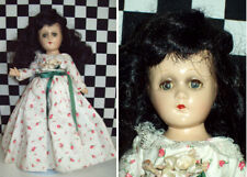 """11"""" Antique Unmarked Composition Doll All Original Shoes & Socks Replaced Dress~"""