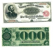 - Reproduction - 1000 Dollars 1890 United States Treasury Note $1000 USA p350