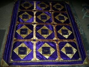 """Crown Royal Purple Lap Quilt, NEW,  61"""" x 74"""" down, with Neck Pillow"""