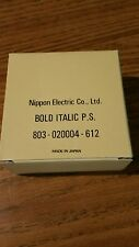 NOS genuine Nec print thimble for NEC impact printers. Font Bold Italic PS
