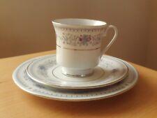 Vintage Oriental Porcelain Cup, Saucer & Side Plate Trio.