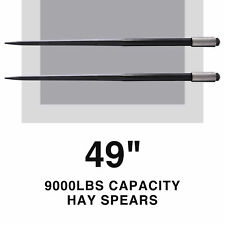 """Compact 49"""" Hay Bale Spears w 4500lb Capacity for Truck Tractor More Set of 2"""