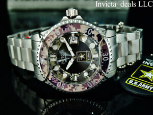 Invicta Men's 47mm U.S ARMY GRAND DIVER Automatic Camouflage Silver Tone Watch