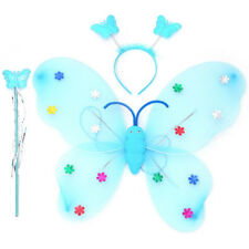 3pcs/Set Girls Led Flashing Light Fairy Butterfly Wing Wand Headband Costume Toy
