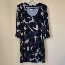 Boden Women's Tunic Mini Dress Size US8 UK12 Scoop Neck 3/4 Sleeves