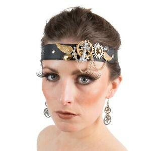 Steampunk Haarband Retro Haarschmuck Gothic Stirnband mit Zahnrädern Kopfschmuck