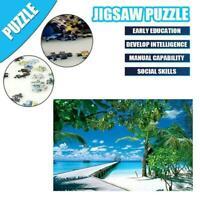 1000 Piece Tropical Beach Puzzles Toys Landscape Adults Educational Kids X5A4