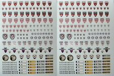2 DECALS INSIGNES POLICE NATIONALE CRS - DECALCOMANIE pour miniature 1/43ème