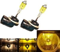 Halogen 886 50W 3000K Yellow Two Bulbs Fog Light Plug Play Replacement Lamp Fit