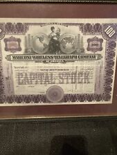 More details for share certificate 1920 marconi wireless telegraph co of america henry carlebach