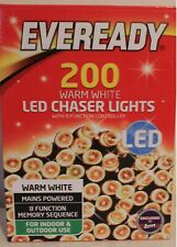 BNIB 200 Warm White Ultra Bright 8 Function LED Lights (Indoor/Outdoor)