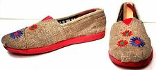 Girls Toms Classic 'Jute' Slip-On Shoes Size 3 Youth