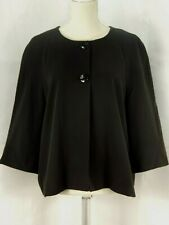 Sag Harbor Women's Size 16 Stretch 3/4 Sleeve Black 2 Button Flare Jacket.