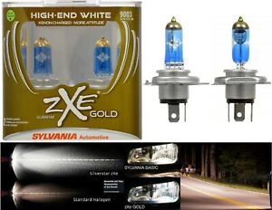 Sylvania Silverstar ZXE Gold 9003 HB2 H4 60/55W Two Bulbs Head Light Replacement