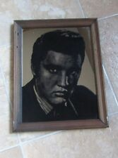 """Elvis Presley Mirror Picture in frame approx 14.5"""" x 11-1/4"""""""
