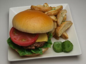 Made in Japan Fake food /Food replica Hamburger and Potato New!!