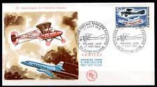 50Jahre Flugpostverbindung Paris - St.Nazaire (1918). FDC(2). Frankreich 1968