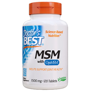 Doctor's Best MSM 1500 mg 120 Tablets
