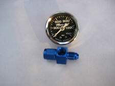 NOS/NX/ZEX/EDELBROCK/HOLLEY/ CHROME NITROUS GAUGE+4AN BLUE SWIVEL FITTING-NEW!