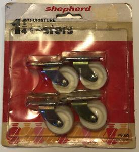 "Vintage SHEPHERD 1-1/4"" Furniture Casters, NOS"