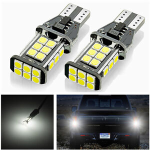 2pcs T15 White 24SMD LED Bulbs Exclusively Designed for Backup Reverse Lights 5W