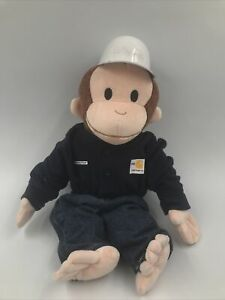 Gadsby Plant Carhartt FR Monkey Plush Toy Stuffed Animal Operator With Hard Hat