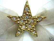 18KGP Stars Swarovski Element Austrian Crystal Rhinestone Brooch Pin