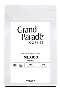 Organic Mexican Gourmet Dark Roast Ground Coffee, Fresh Roasted Daily, 1 LB Bag