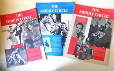 3 Vtg 1943-4 FAMILY CIRCLE Magazine Donald O'Conner JOHN WAYNE Paris-Underground