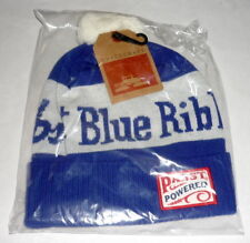 PBR Pabst Blue Ribbon Beer BEANIE Powered SPACECRAFT Brand Blue White