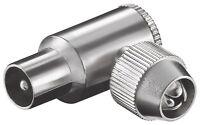TV BK Koax Winkel-Stecker 90° schraubbar Metall DIN IEC Antenne verschraubt