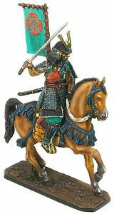 COLLECTIBLE PAINTING TIN SOLDIER SAMURAI ON THE HORSE 54 MM
