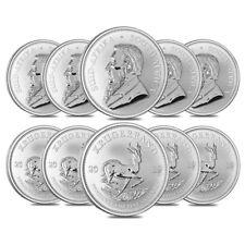 Lot of 10 - 2019 South Africa 1 oz Silver Krugerrand BU