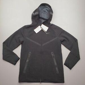 Nike Men's Tech Pack Windrunner Full Zip Hoodie Black/Anthracite CU3598 Size S