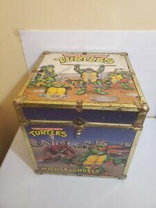 """Vintage TMNT Teenage Mutant Ninja Turtles Toy Chest Box 16"""" Cube 80s 90s"""