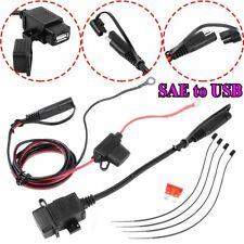 Impermeable 12-24V Negro SAE a USB Moto Cargador Adaptador Set para Teléfono GPS