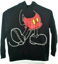 Mens Disney Parks Mickey Mouse Hoodie With Ears Black Size XXL XXLarge Full body