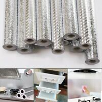 Aluminum Foil Self Adhesive Waterproof Anti oil Tile DIY Wallpaper Sticker